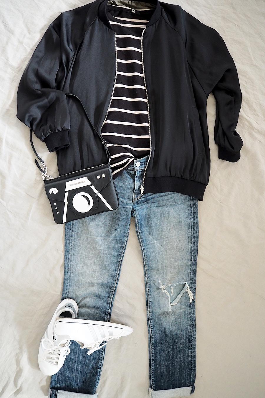 Stylebook: Schwarze Bomberjacke