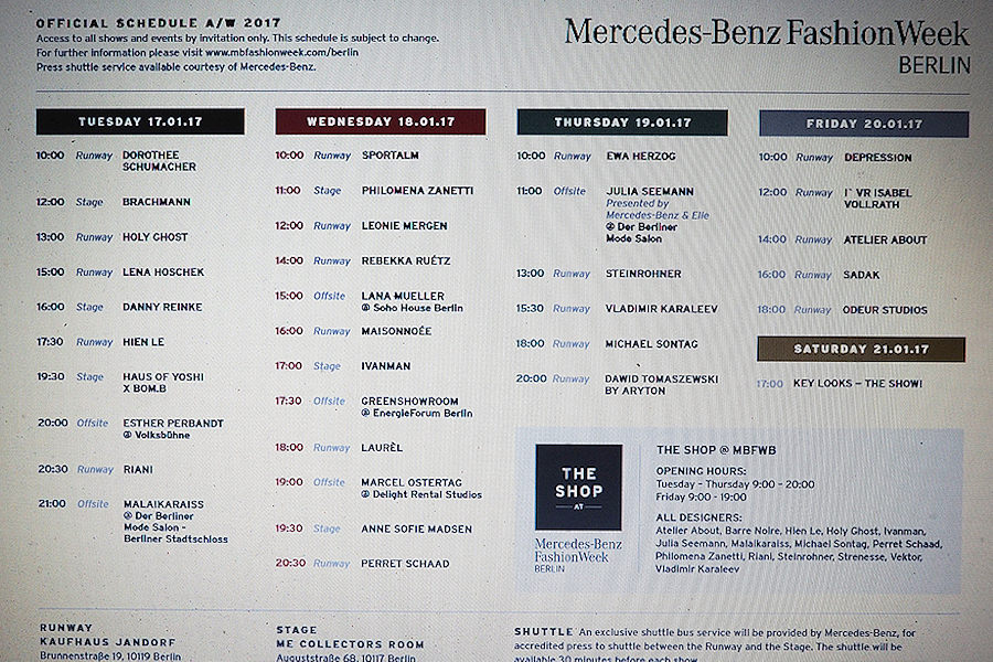 Just-take-a-look.berlin - Mercedes-Benz Fashion Week - Update