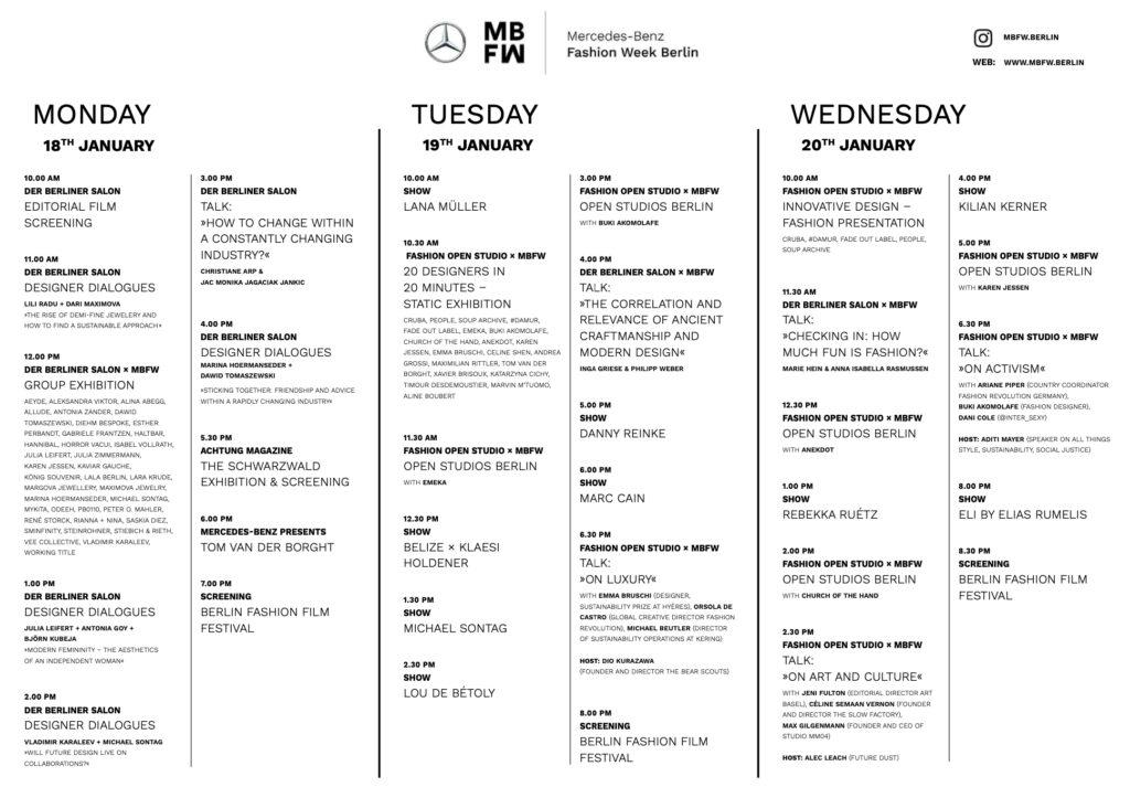 Just-take-a-look Berlin - Schauenplan - Kraftwerk Berlin - MBFW 1